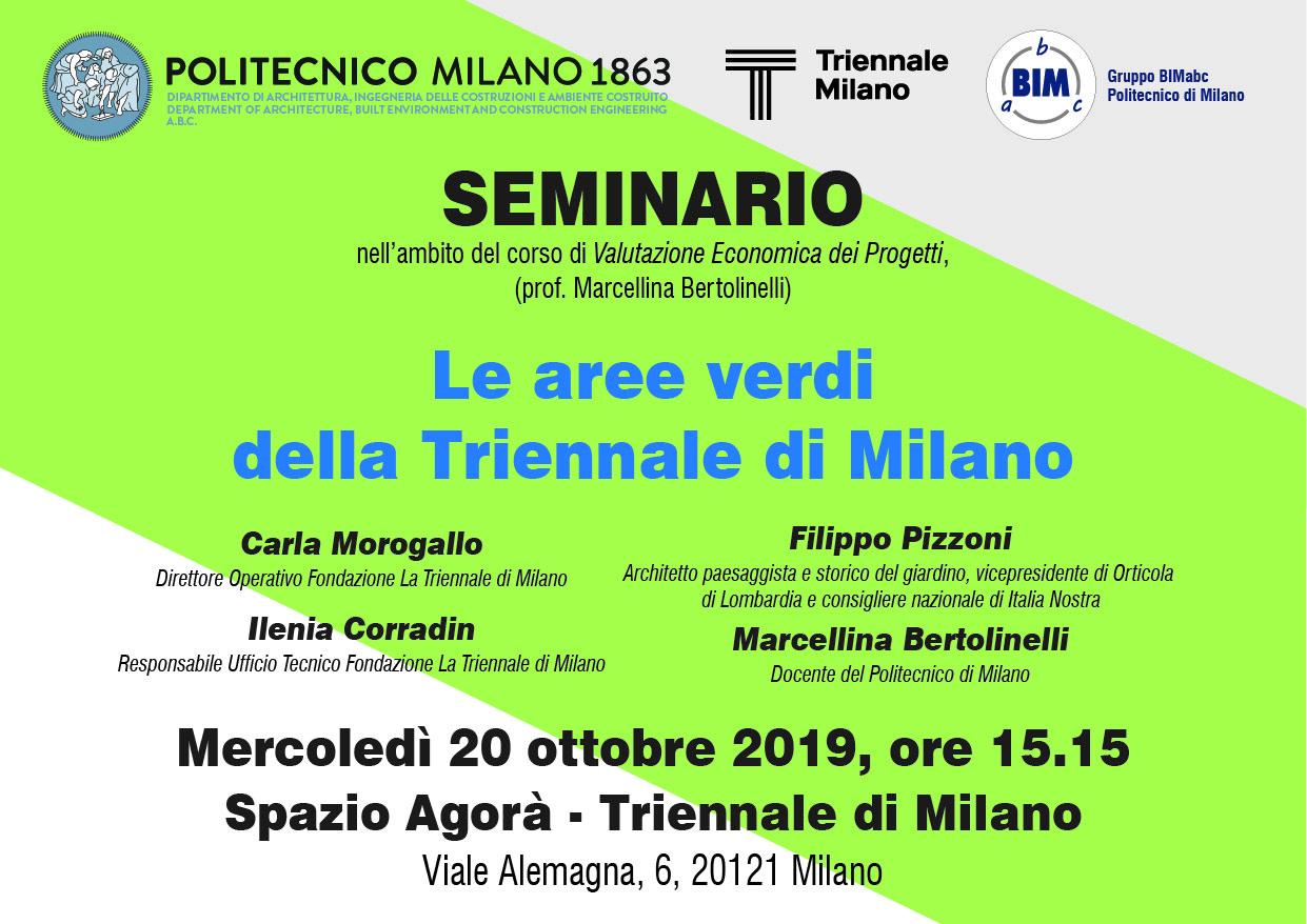Le aree verdi della Triennale di Milano