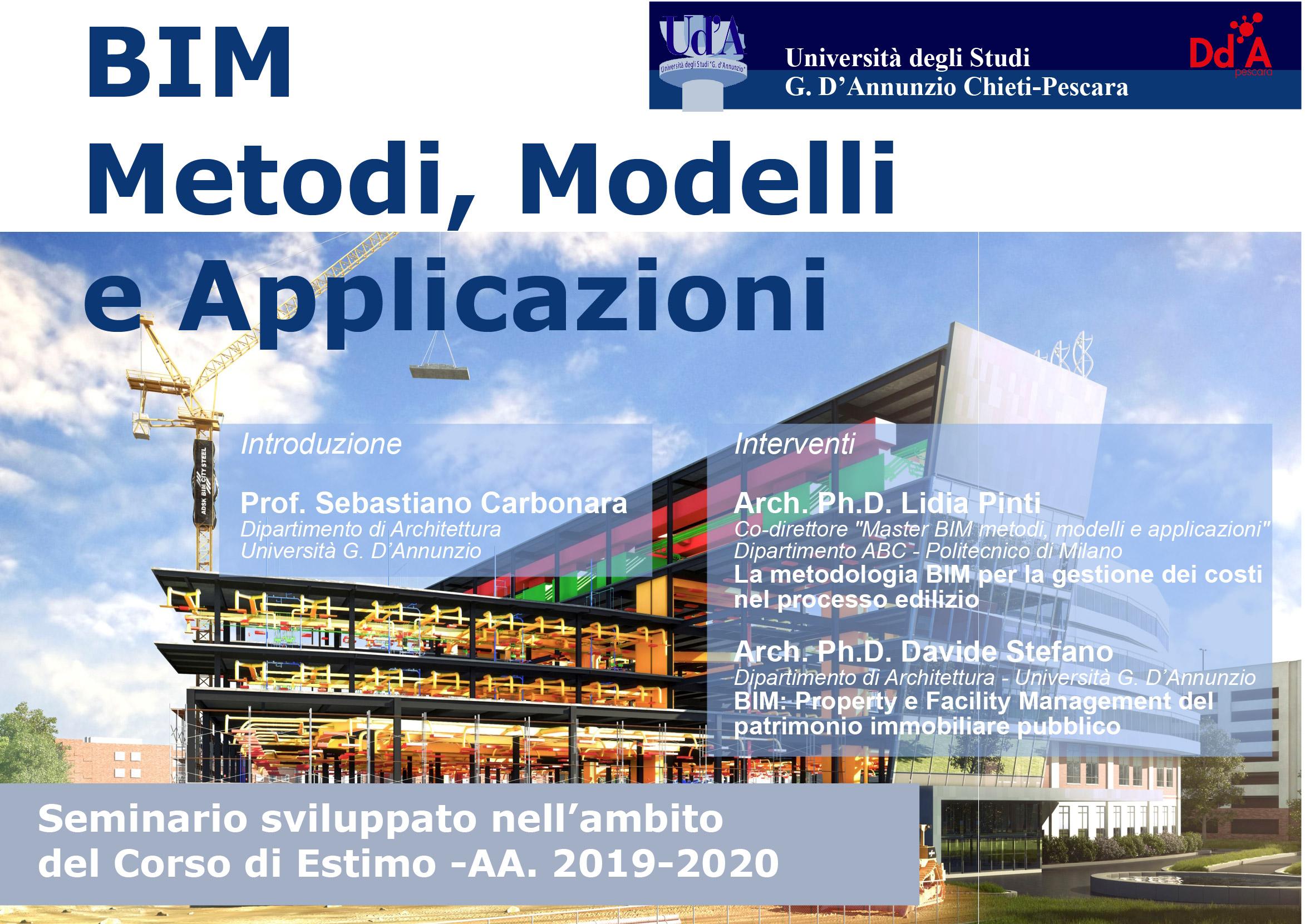 Seminario BIM Metodi, Modelli e Applicazioni