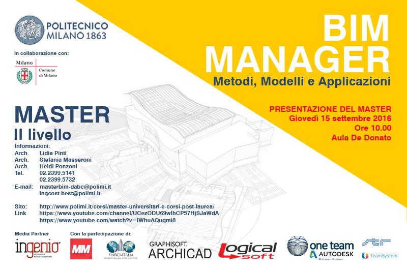 Presentazione Master BIM II ed. 2016-2017