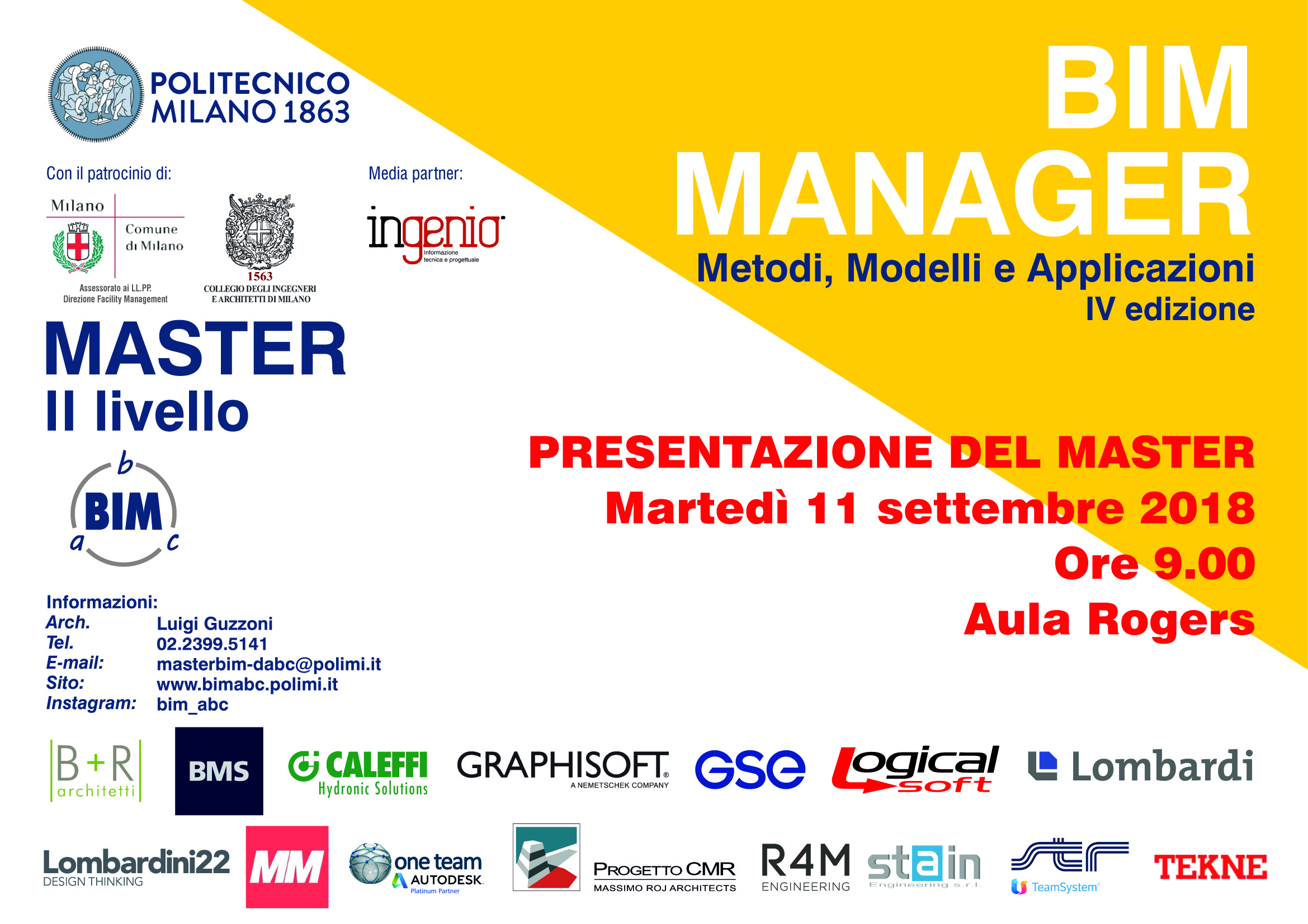 Presentazione Master BIM IV ed. 2018-2019
