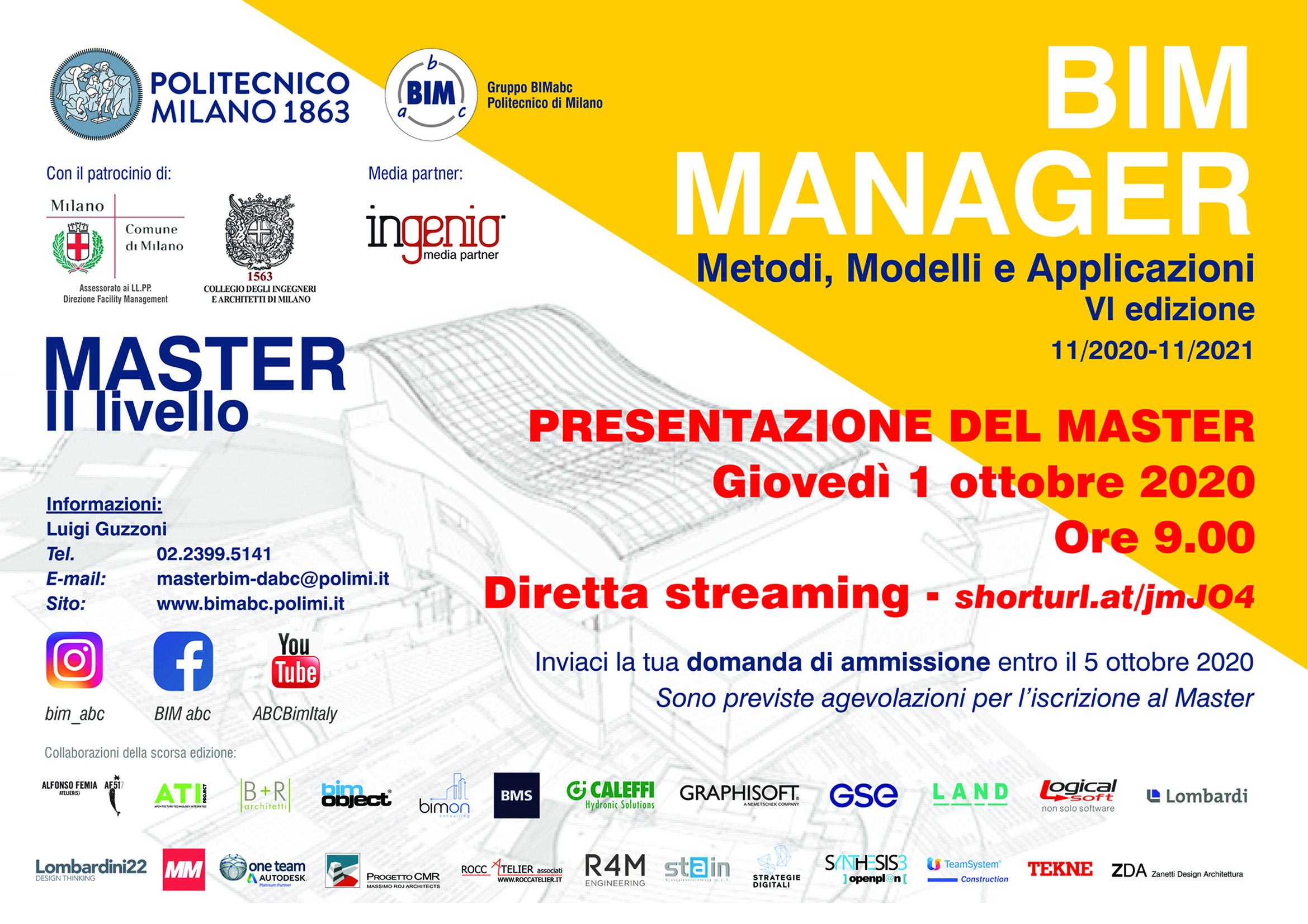 Presentazione Master BIM IV edizione 2020-2021