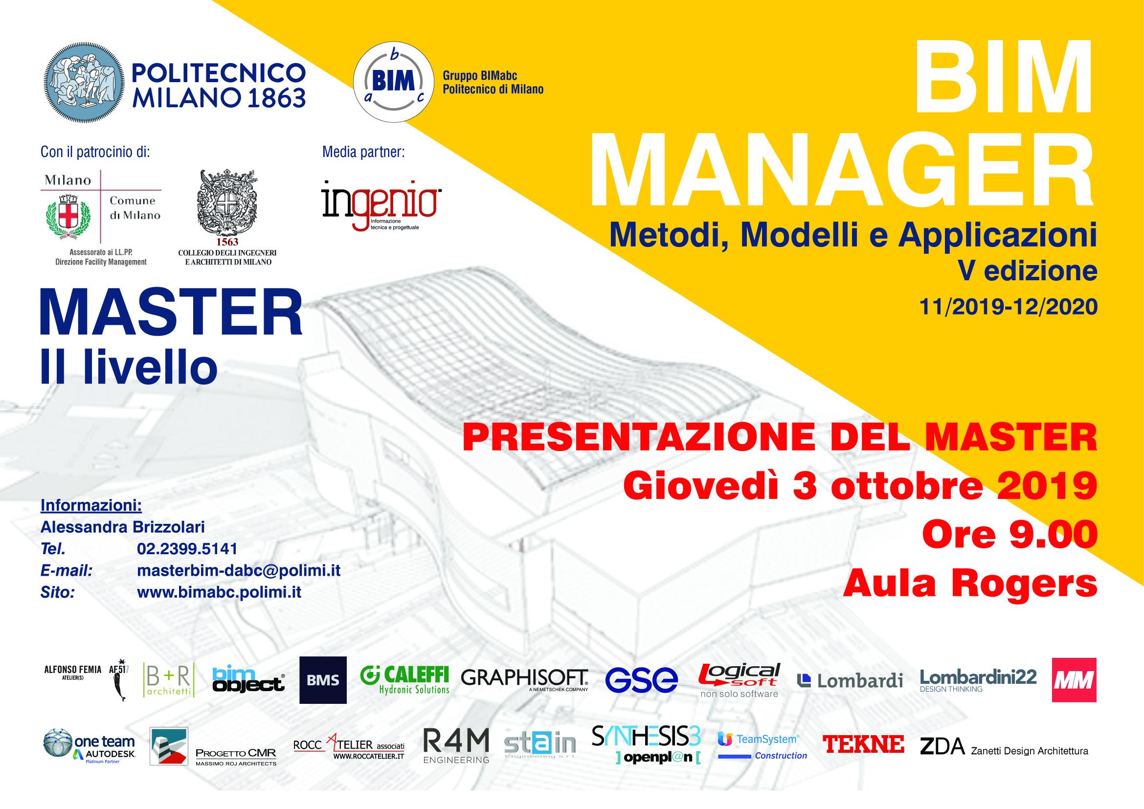 Presentazione Master BIM V ed. 2019-2020